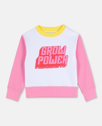 Stella Mccartney Kids Stella McCartney grow power cot/poly sweatshirt
