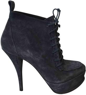 Elizabeth and James Blue Suede Ankle boots