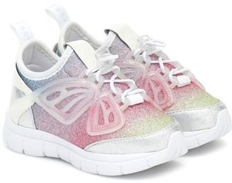 Sophia Webster Mini Fly-By glitter sneakers