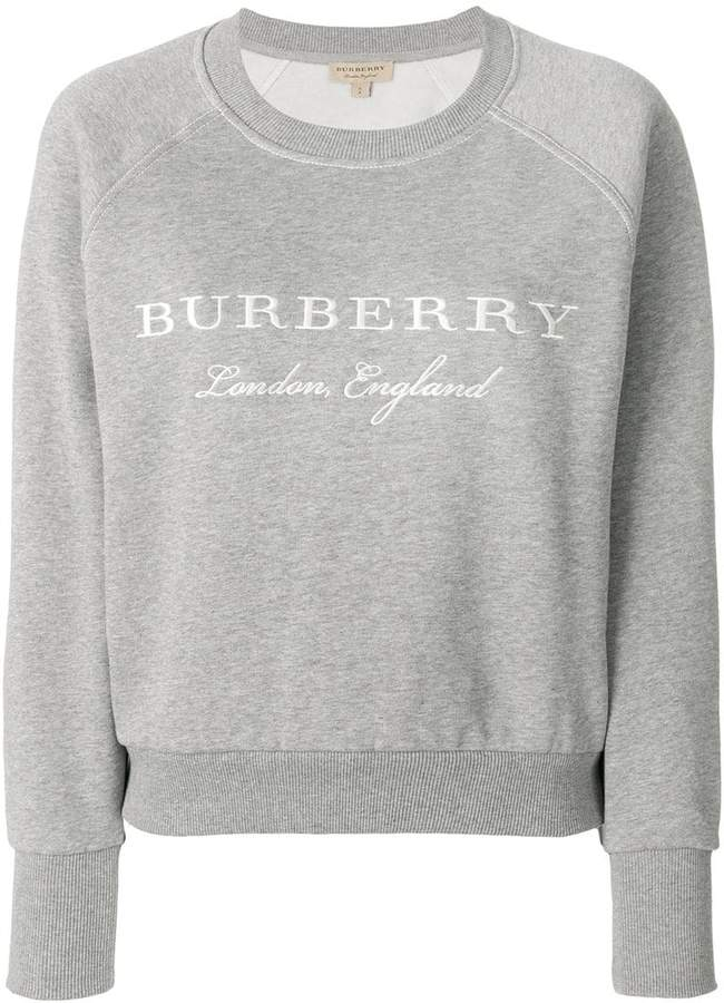 Burberry Embroidered Cotton Blend Jersey