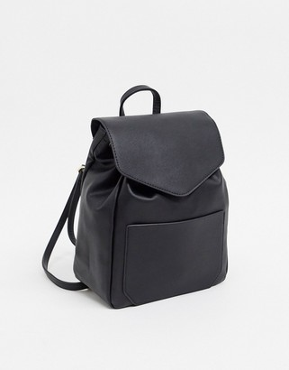 French Connection Leather Drawstring Backpack