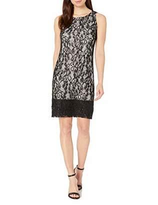 Nine West Women's Sequin Lace Two Tone Dress