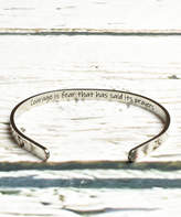 Pink Box Accessories Women's Bracelets Silver - Stainless Steel 'Courage Is Fear' Cuff