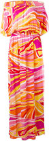 Emilio Pucci printed bardot beach dress - women - Viscose - 44