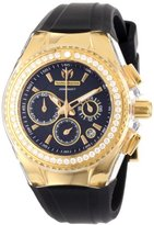 Technomarine Women's 111008 Cruise Original Star Chronograph Diamond Black Silicone Watch