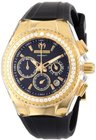 technomarine womens 111008 cruise original star chronograph diamond black silicone watch