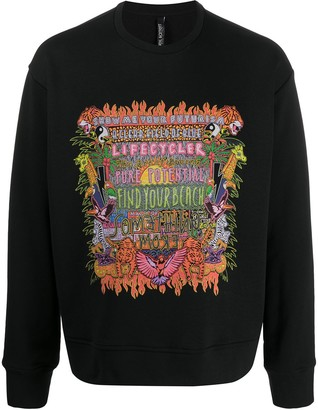Neil Barrett Find Your Beach printed sweatshirt
