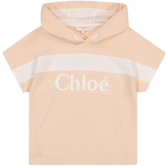 Chloé Kids Logo cotton-blend hoodie