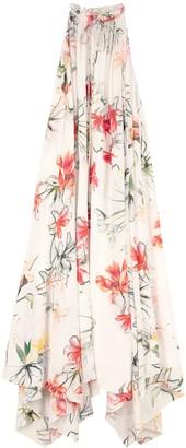 Alexander McQueen Printed Silk Long Dress