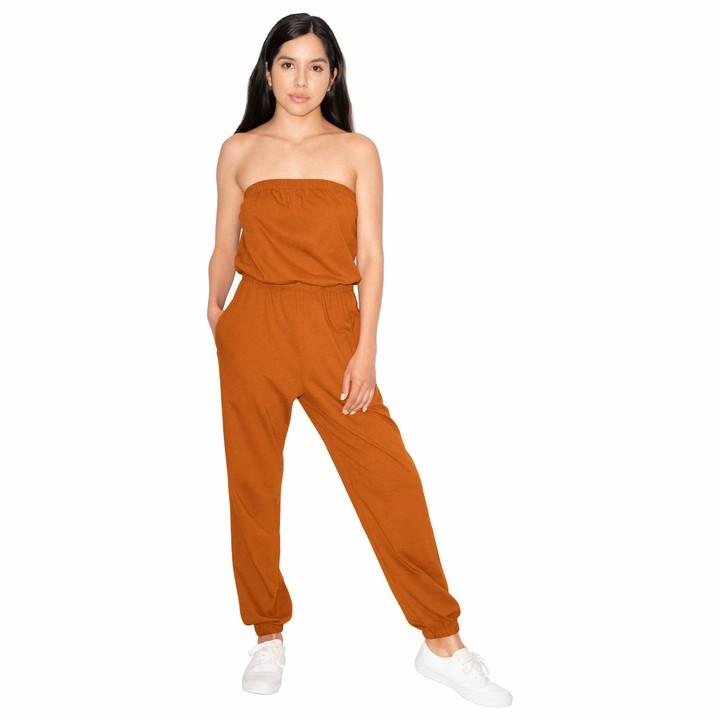 American Apparel Women's Fine Jersey Strapless Jumpsuit