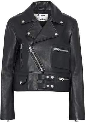 Acne Studios Suokki Leather Biker Jacket