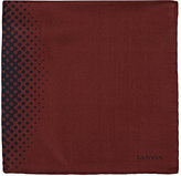 Lanvin Men's Dot-Pattern Silk Pocket Square