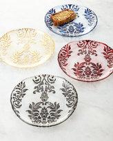 Horchow Four Damask Canape Plates