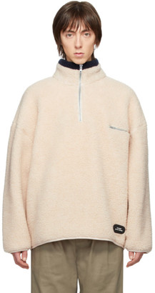 Rassvet Beige Fleece Zip Pullover