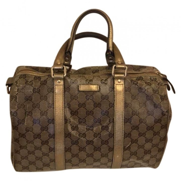 Gucci Boston Beige Cloth Travel bags