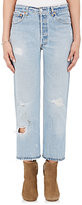RE/DONE Women's Distressed High Rise Straight Crop Jeans