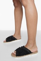 Thumbnail for your product : boohoo Canvas Cross Strap Espadrille Slider