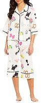 Kate Spade Icon-Print Lawn Capri Pajamas