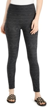 Hippie Rose Juniors' Printed High-Waisted Leggings