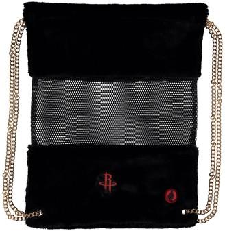 Houston Rockets Mesh Gold Chain Drawstring Bag