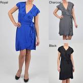 Tiana B Women's Ruffle Detail Wrap Dress