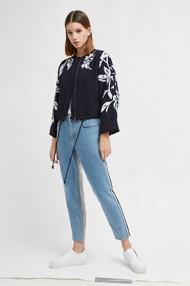 French Connection Alleffra Applique Quilted Jacket