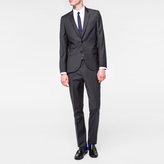 Paul Smith Men's Mid-Fit Charcoal Grey Wool Suit