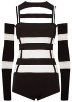 Balmain Cut-Out Jersey Bodysuit