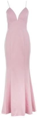 Jarlo Anya Fishtail Maxi Dress with Deep V Neckline
