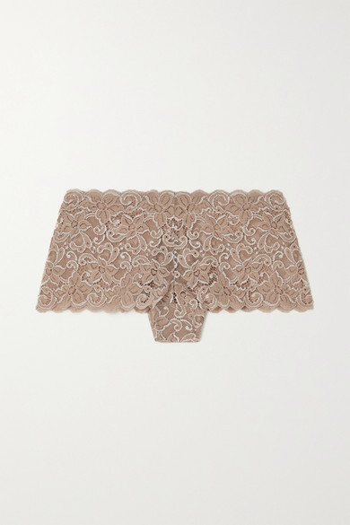 Thumbnail for your product : Hanro Moments Stretch-lace Briefs - Taupe