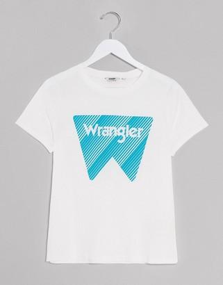 Wrangler ss graphic tee off white