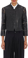 Gary Graham Women's Puckered Leather Crop Jacket