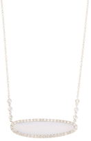Meira T 14K White Gold, Chalcedony & 1.00 Total Ct. Pave Diamond Pendant Necklace