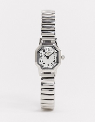 Limit bracelet watch in silver with octagonal dial