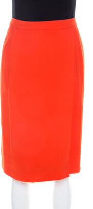 Boss by Hugo Boss Orange Crepe Overlap Detail Vakira Skirt L