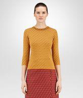 Bottega Veneta Ocre Cashmere Wool Jacquard Sweater