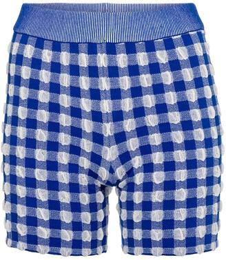 Jacquemus Le Short Arancia gingham knit shorts