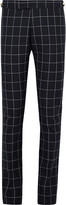 Thom Browne - Blue Slim-fit Windowpane-checked Wool Trousers
