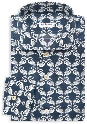 Kiton Flamingo Dress Shirt