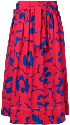 Marni printed full skirt