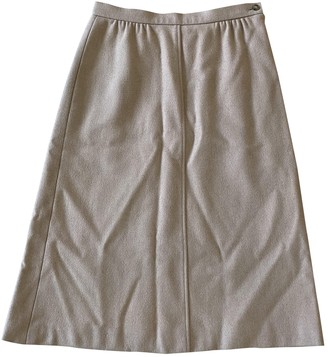 Jaeger Beige Wool Skirt for Women