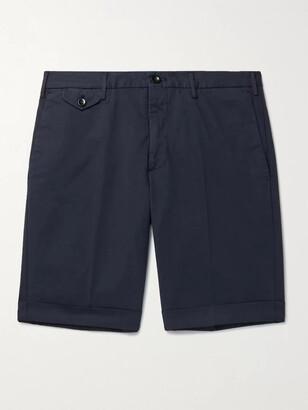 Incotex Slim-Fit Stretch-Cotton Twill Bermuda Shorts