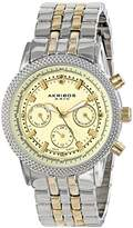 Akribos XXIV Women's AK722TTG Swiss Quartz Movement Watch with Yellow Gold Dial and Two Tone Bracelet