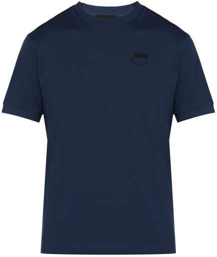 f9c478e3 Conceptual Triangle Logo Cotton Pique T Shirt - Mens - Mid Blue
