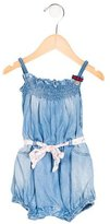 Gucci Girls' Chambray Sleeveless All-In-One
