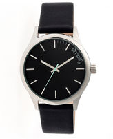 Simplify Mens The 2400 Black Dial Leather-Band Watch SIM2402