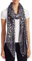 Saks Fifth Avenue Collection Leopard-Print Scarf