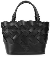 Prada Woven Leather Tote