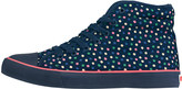 Cath Kidston Scattered Spot Quilted Hightop Plimsolls