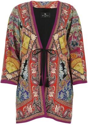Etro Floral Printed Kimono Jacket